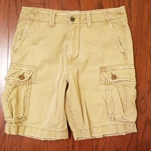 American Eagle Distressed Cargo Shorts